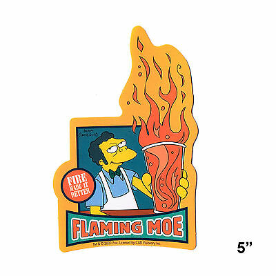 STICKER - The Simpsons Flaming Moe Fire Made It Better Beer Decal  SB19