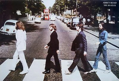 """The Beatles - Abbey Road (1969) POSTER 23""""x34"""" English Pop Rock MUSIC Freeship W"""
