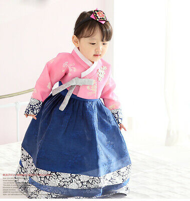 **Hanbok Store** Korea hanbok girls baby luxury costume dress birthday hg037