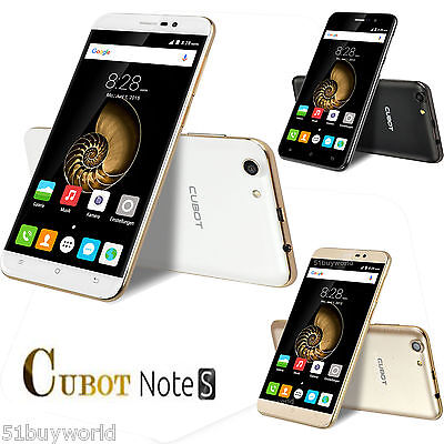 """2GB+16GB 5.5"""" CUBOT NOTE S Android 6.0 3G Quad Core Smartphone GPS OTG Dual"""