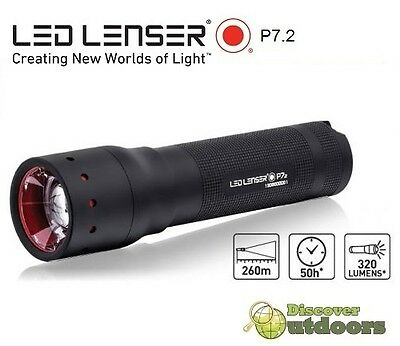 NEW Led LENSER P7.2 Series 2 LED TORCH Flashlight - Handheld - 320 LUMENS