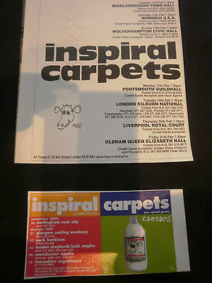 the INSPIRAL CARPETS # TOUR DATES # ORIGINAL ADVERTS # 2 ASSORTED ADVERTS