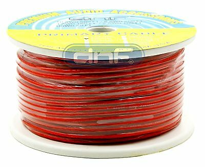8 Gauge 100% OFC Red See Through Power Cable 250 Feet - FREE SAME DAY SHIPPING!