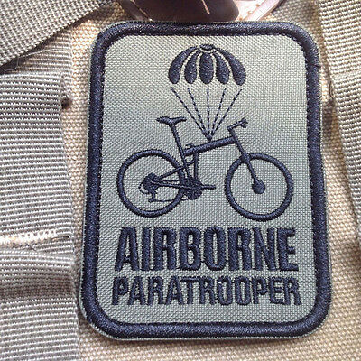 Airborne Paratrooper Bike MORALE BADGE USA TACTICAL MILITARY BADGE PATCH