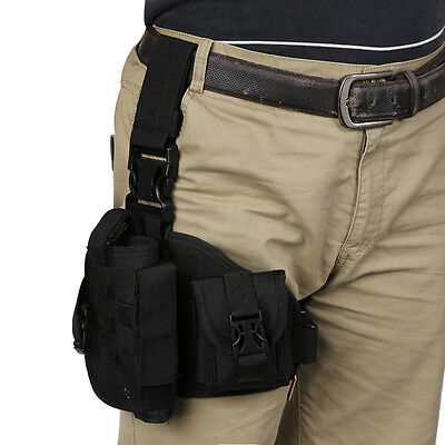 Tactical Leg Holster MOLLE Modular Drop Thigh Rig With Debris Pouch Mag New