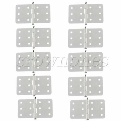 10 Pieces Rectangle Foldable and Durable pinned Hinges for DIY RC Airplane