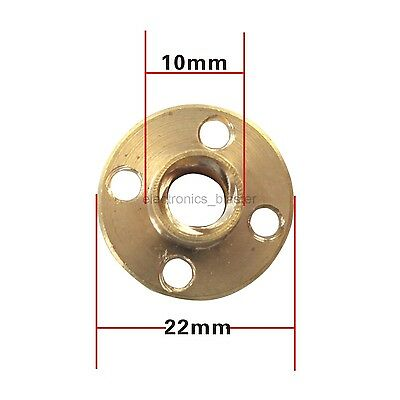 Brass Trapezoidal T6 T8 Nut Stainless Steel Screw 10mm for 3D Printer