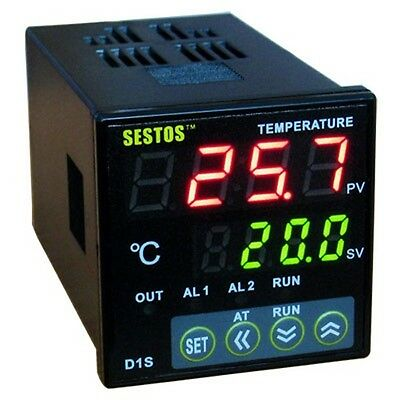 220V AC Dual Digital PID Temperature Temp Controller Thermostat D1S-VR-220 New