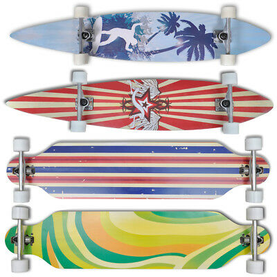 "New Longboard 9Ply Maple Skateboard 9"" ALU Truck Skateboard Red/Green/Blue/Palm"