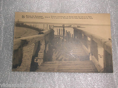 "Ancienne carte postale ww1 ""ruines de zeebrugge"" (do)"