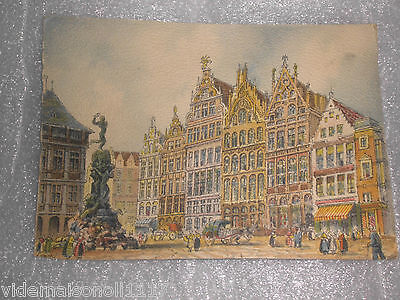"Ancienne carte postale ""Anvers, maison de la grand place"" (do) 1943"