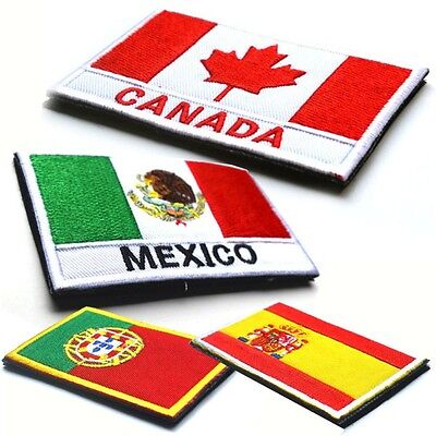 Nation Flag Emblem Iron On Patch Embroidered Applique National Country Sew Style