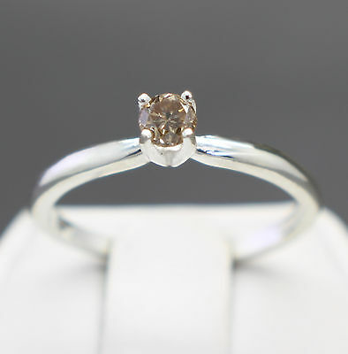 .22cts 3.61mm Natural Champagne Diamond Engagement Ring $620 Retail Value