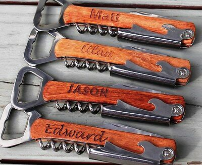 Personalized Corkscrew and Multi-Tool - Groomsmen Gifts - Wedding Party Gifts