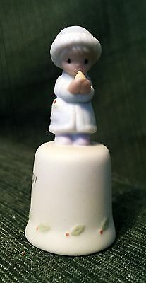 "1991 Precious Moments Bell   Porcelain    Excellent Condition    2-1/4"" Tall"