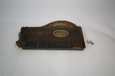 1800's Concurrenz Concert Zither C.F.H. Antique must see lap harp guitar