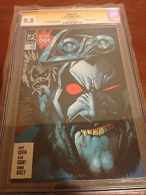 Lobo #1 Dc Cgc 9.8 Ss Signed & Sketch Simon Bisley!!! Rare Must Have