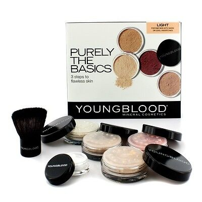 Youngblood Purely The Basics Kit - #Light (2xFoundation, 1xMineral Blush,