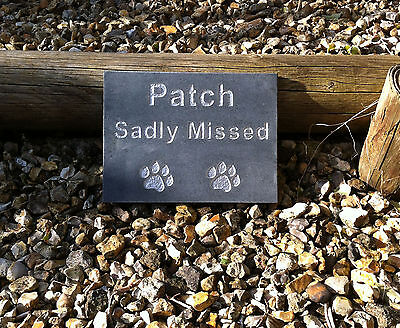 Slate Grey Granite Pet Memorial Stone Plaque