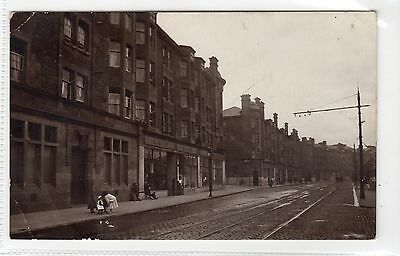 UNTITLED STREET SCENE, PORT GLASGOW: Renfrewshire postcard (C14187)