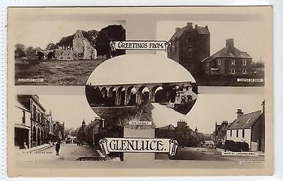 GLENLUCE: Wigtownshire multiview postcard (C13700)