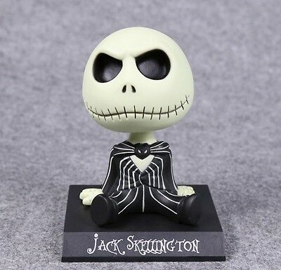 Jack Nightmare Before Christmas Skellington Disney S Figure Bobble Head Gift Box
