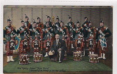 "THE ""HARRY LAUDER"" PIPE BAND: Music postcard (C13644)"