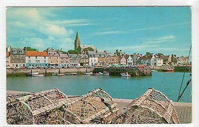 THE HARBOUR, ANSTRUTHER: Fife postcard (C13575)
