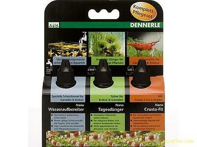 Dennerle 3in1 Complete Care Set for Nano Aquariums Tap Safe Fertiliser Vitamins