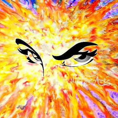 Original Painting Large Signed Art Wall Deco Collector Investment Serious Eyes