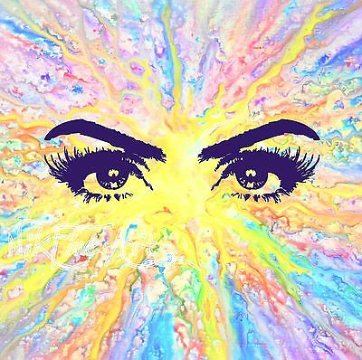 Original Painting Large Signed Art Wall Deco Collector Investment Colorful Eyes