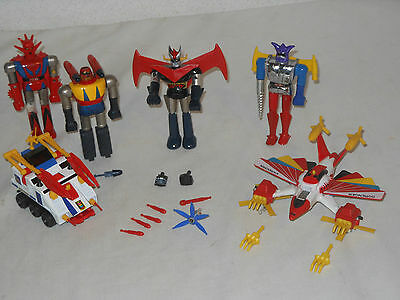Lot Vintage Metall Toys - Shogun Warriors - Popy Mattel - Japan