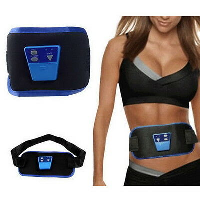 AB Gymnic Front Muscle Arm leg Waist Abdominal Massage Slim Fit Toning Belt EC