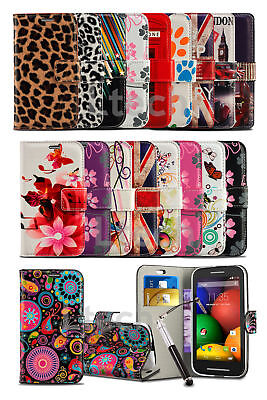Huawei Ascend Y3 - Fresh Printed Pattern Wallet Case Cover & Retractable Pen