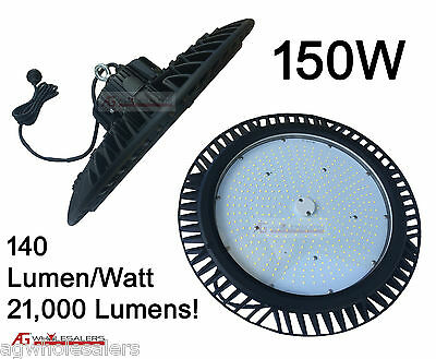 150W LED HIGH BAY LIGHT - 5Yr Warranty COMMERCIAL FACTORY DOMESTIC High Output