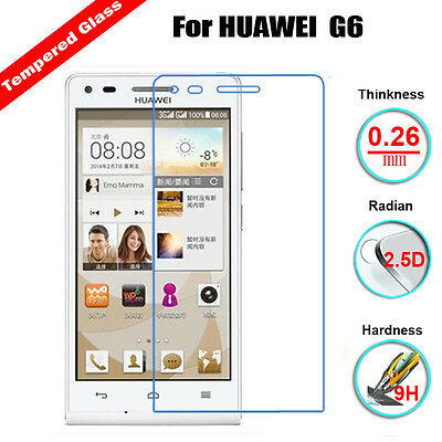 Genuine 9H Premium Tempered Glass Film Screen Protector For Huawei Ascend G6