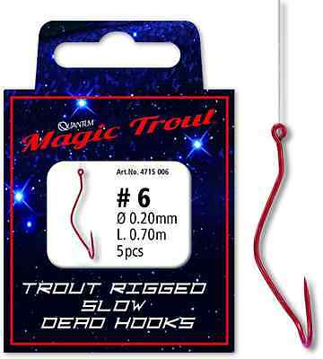 Quantum Trout Rigged Slow Death Dead Rotierende Haken Forellenkiller Forelle