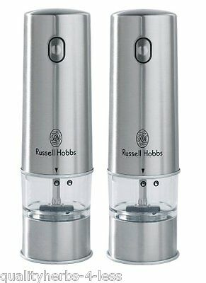 Russell Hobbs 12051-56 Battery Powered Stainless Steel Salt And Pepper Grinders