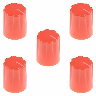 "5 x Red Davies 1900H Style 1/4"" 6.35mm Guitar Potentiometer Knob"