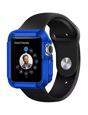 Apple Watch Case Cover Protector Screen Bumper Blue 38 mm Soft Flexible 38mm New