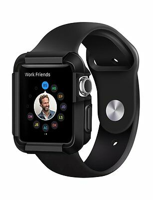 Apple Watch Case Protector Cover 42 mm Black Thin Protective iWatch Durable New