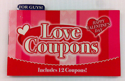 Love Coupons Booklet for Guys 12 coupons