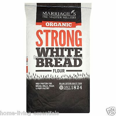 Strong White Organic Flour Bread Makers Rolls Pizza Marriage's 16kg Catering