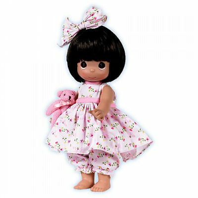 """Precious Moments 12"""" Doll Bare Foot Blessings Brunette + Gift Box New"""