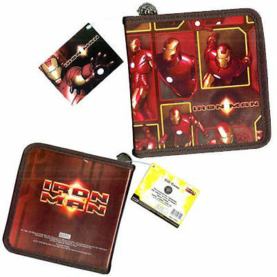 24 CD DVD Organizer Storage Case Marvel Avengers IRON MAN Burgundy NEW M