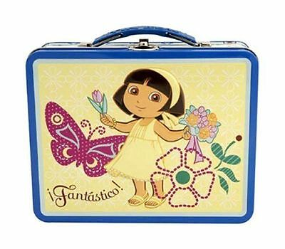 Tin Metal Lunch Snack Toy Box Embossed DORA the Explorer Fantastico NEW