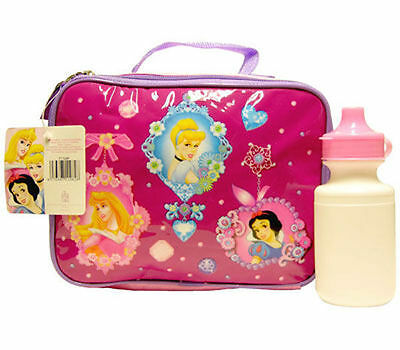 Lunch Bag Insulated + Water Bottle Disney Princess M New