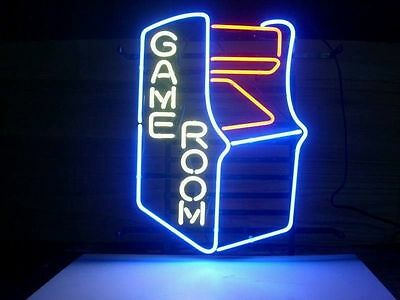 New Video Game Room Real Glass Neon Light Sign Home Beer Bar Pub Sign B14