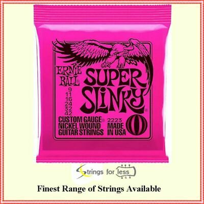 Ernie ball 2223 Super Slinky nickel wound Electric guitar strings Gauge 9-42