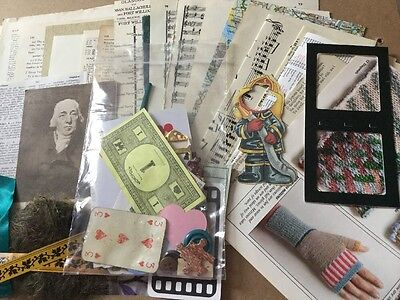 Fragile Papers From Old Books And Other Items - Paper Craft Altered Art Collage